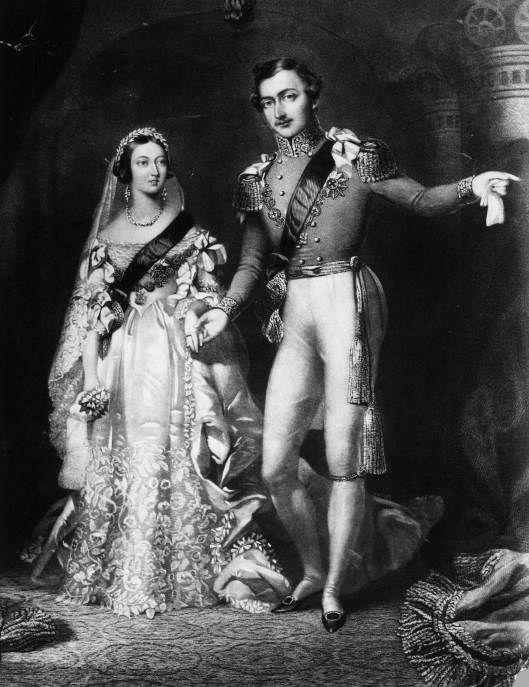 Foto Victoria y Alberto de Sajonia