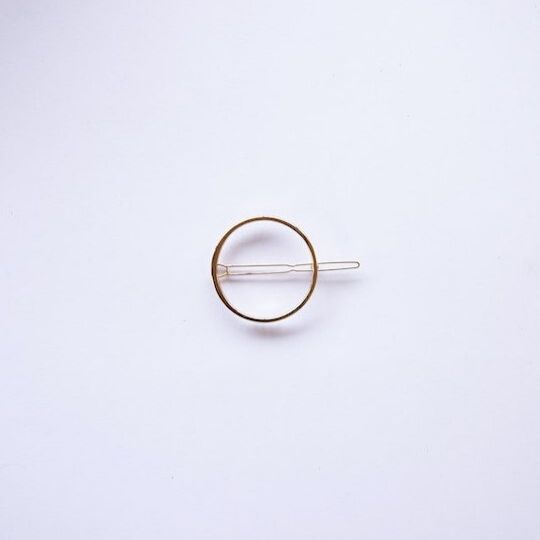 Horquilla circular dorada