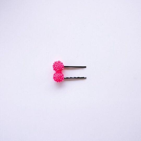 Horquillas para el pelo rosa