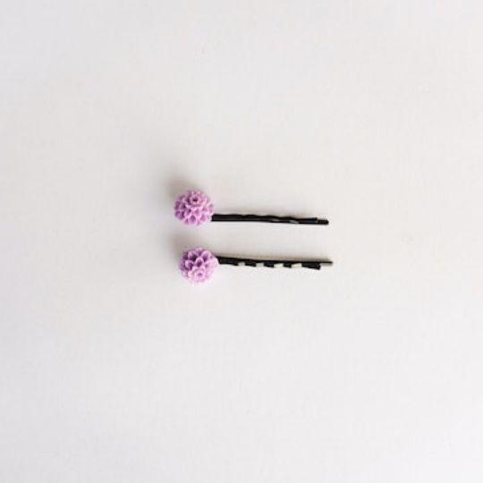 Horquillas violeta