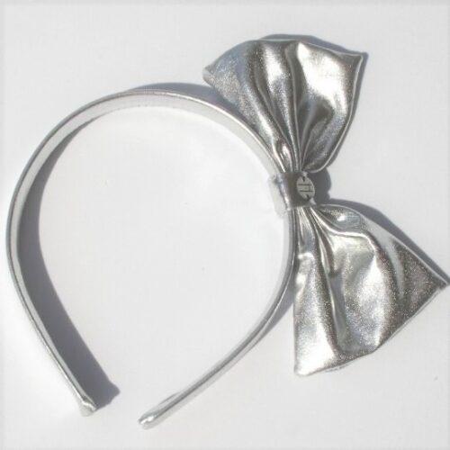 Diadema lame plata