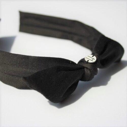 Diadema negra nudo