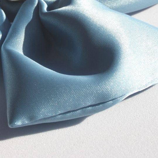 Diadema raso azul