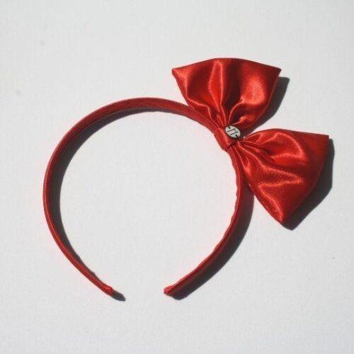 Diadema raso roja