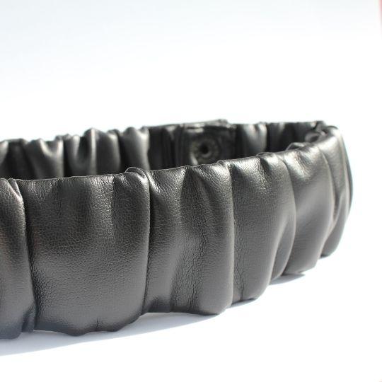 Cinturón de polipiel drapeado