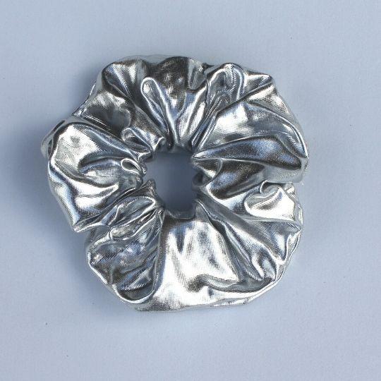 Coletero de lamé plata