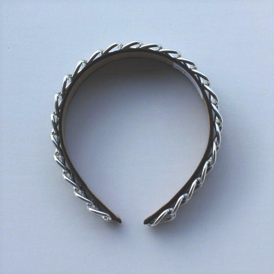 Diadema cadena plata