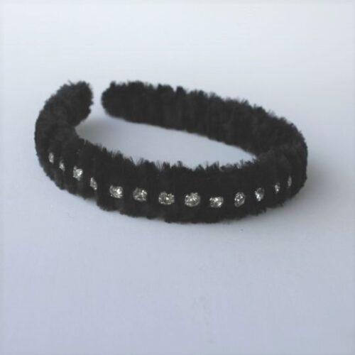 Diadema peluche negra
